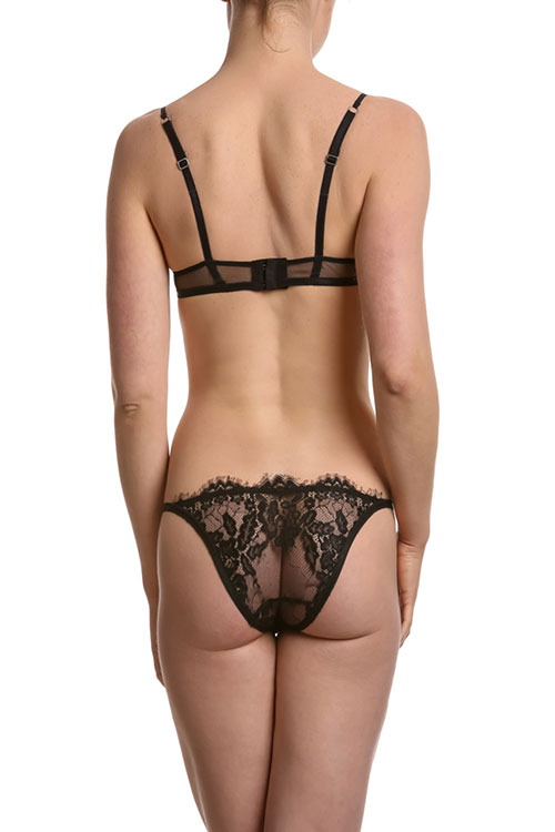 Fransik Dessous - schwarzes Dessous-Set Charleston