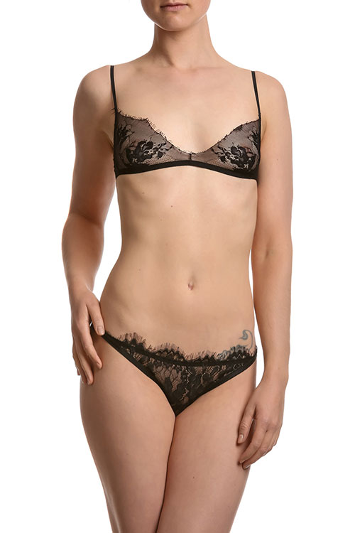Dessous-Set schwarz Charleston